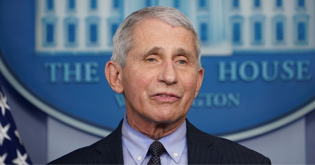 Director of the National Institute of Allergy and Infectious Diseases Dr. Anthony Fauci speaks during the daily briefing in the Brady Briefing Room of the White House in Washington, D.C., on Jan. 21, 2021.