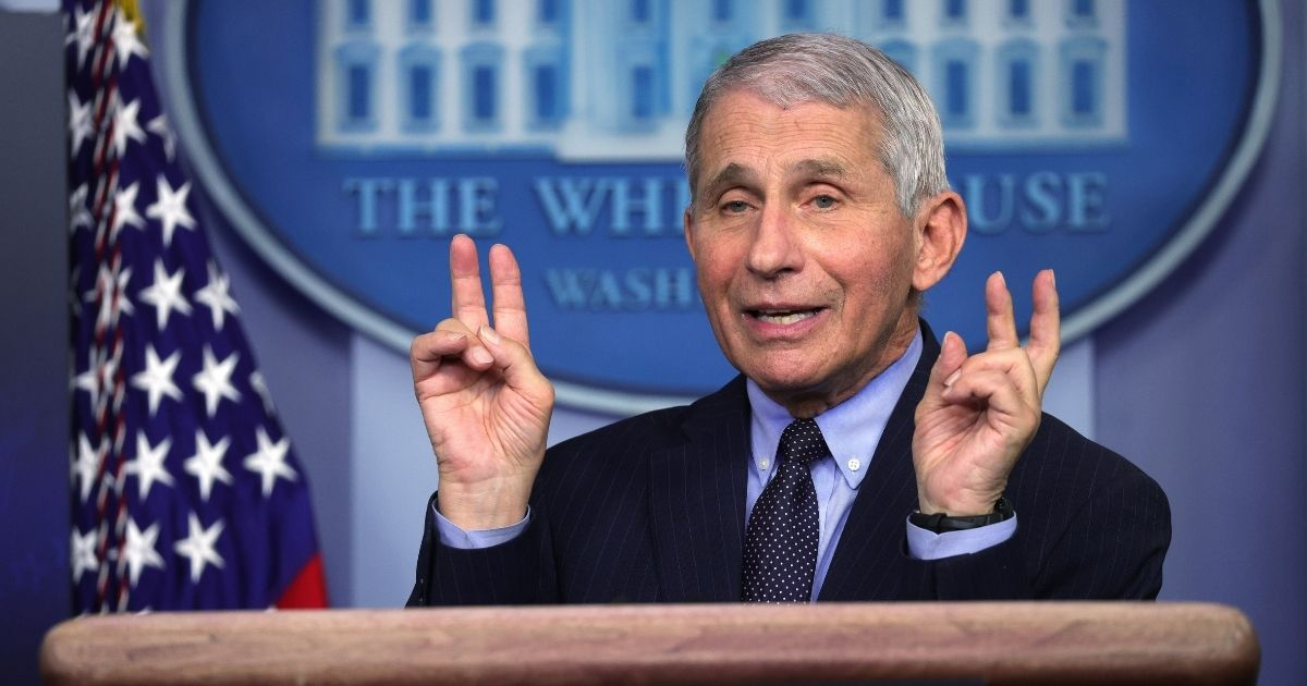 Dr. Anthony Fauci, director of the National Institute of Allergy and Infectious Diseases, speaks during a White House media briefing, conducted by White House Press Secretary Jen Psaki, at the James Brady Press Briefing Room of the White House on Jan. 21, 2021, in Washington, D.C.