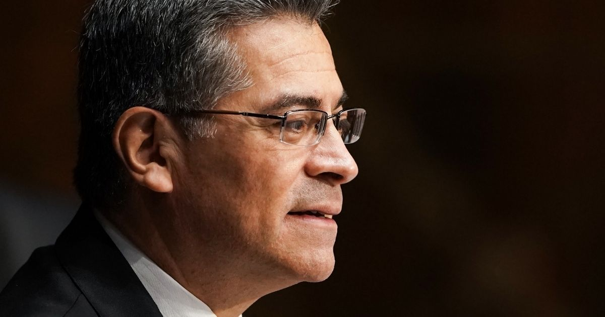 Xavier Becerra, President Joe Biden's nominee for Secretary of health and human services, answers questions during his confirmation hearing before the Senate Finance Committee on Capitol Hill in Washington on Wednesday