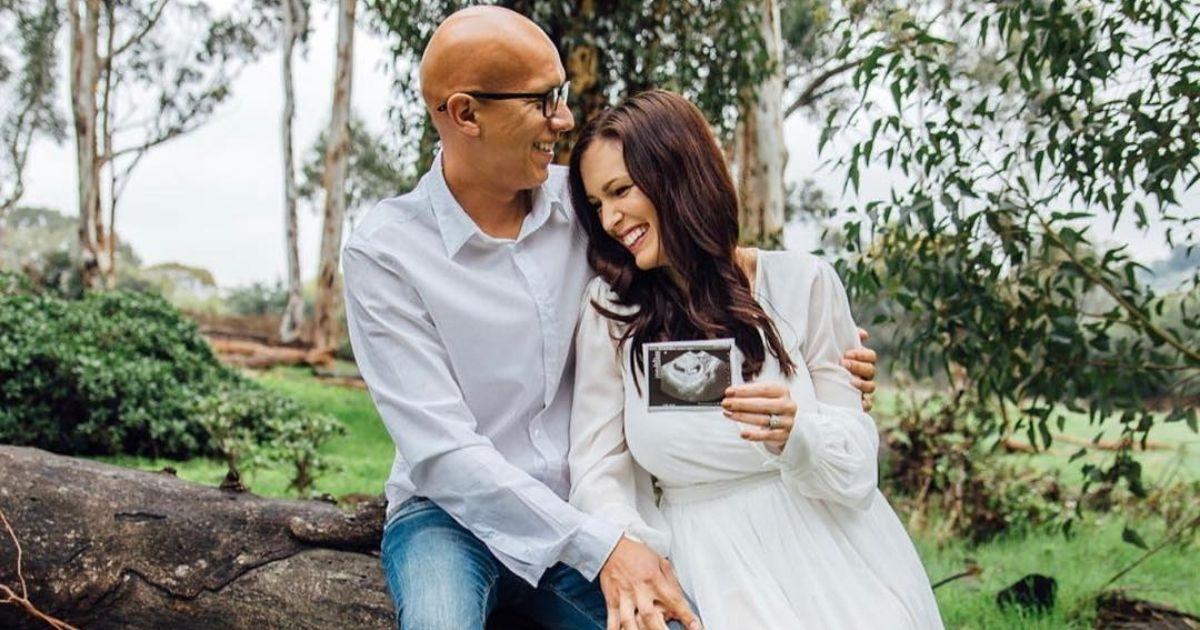 Former porn actress Brittni De La Mora with her husband, Richard.