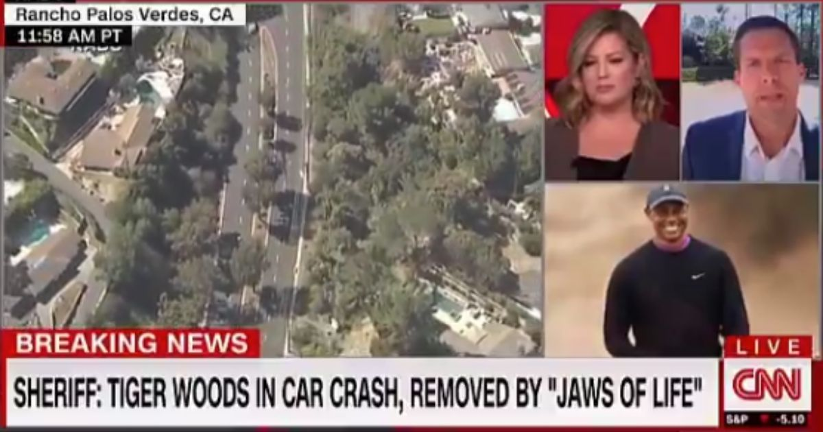 """A CNN host has been slammed for """"irresponsible journalism"""" after comments he made in the aftermath of Tuesday's rollover accident in which golfer Tiger Woods suffered serious injuries."""