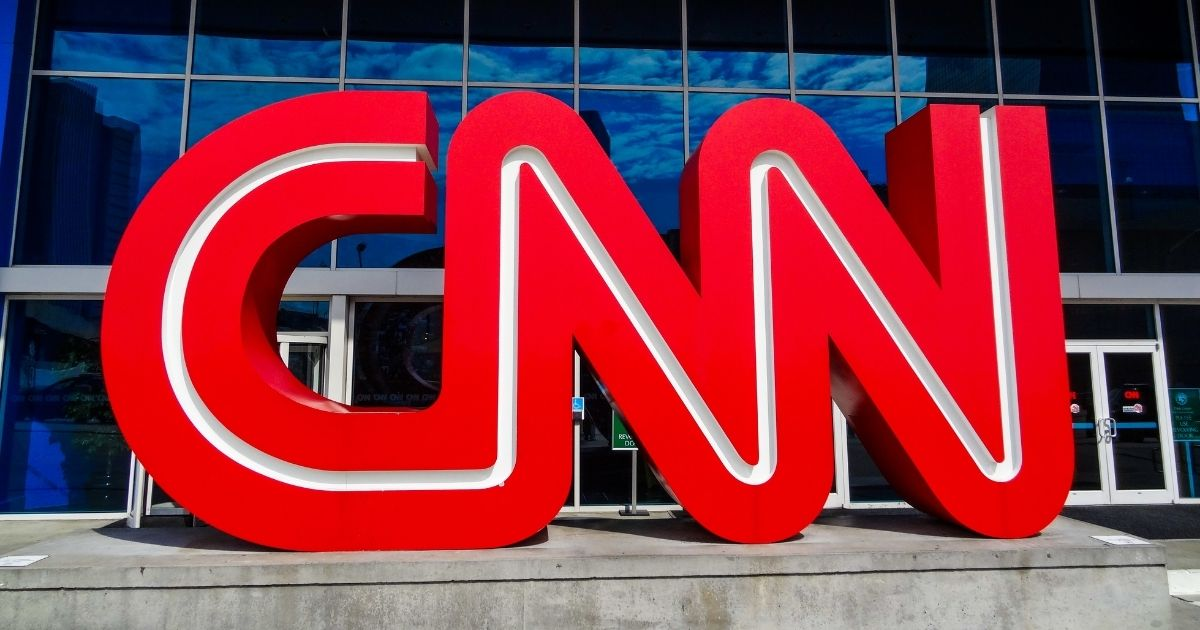 The CNN logo stands outside the company's headquarters in Atlanta.
