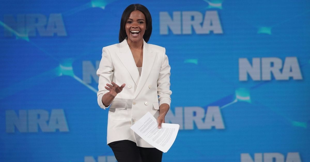 Activist Candace Owens speaks to guests during the NRA-ILA Leadership Forum at the 148th NRA Annual Meetings & Exhibits on April 26, 2019, in Indianapolis, Indiana.