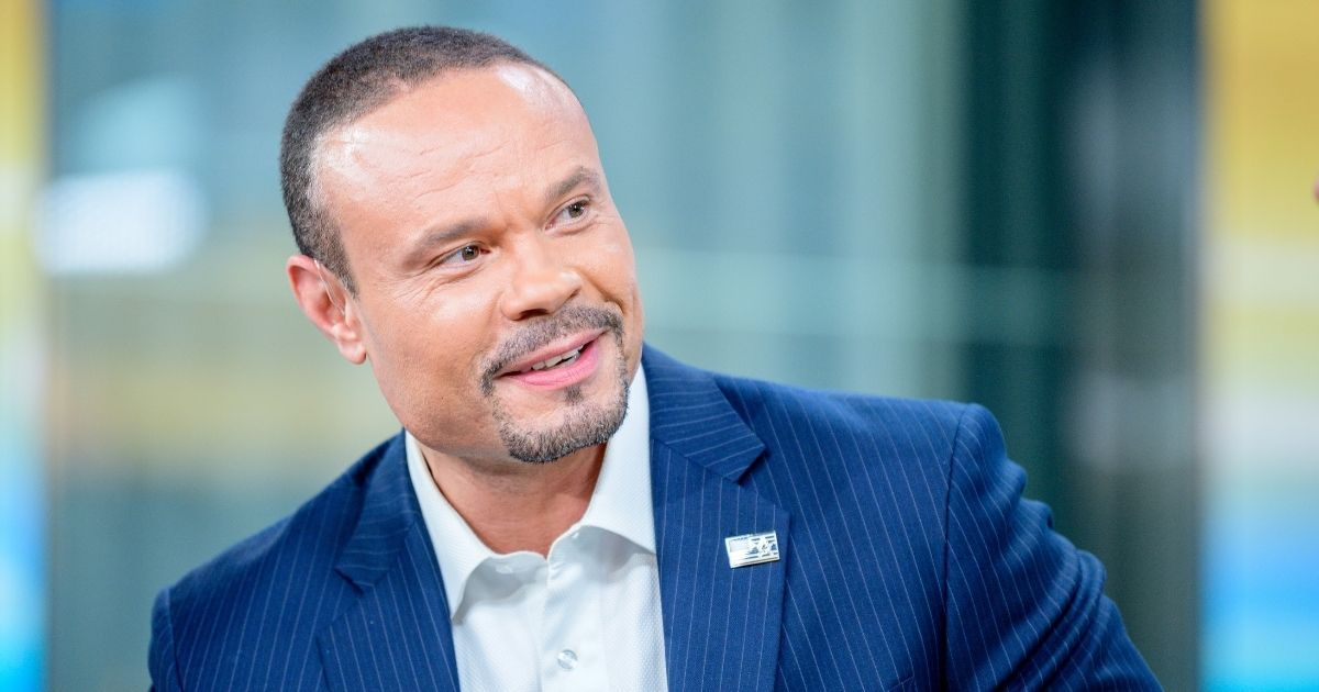 Fox News contributor Dan Bongino is pictured interviewing a guest at Fox News Channel Studios on June 18, 2019, in New York City.