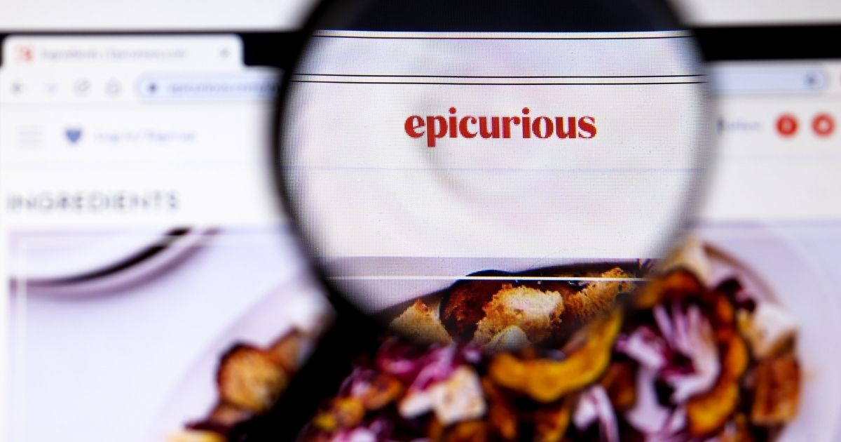 The website of Epicurious, an American digital resource with recipes and tips for the kitchen, is pictured above.