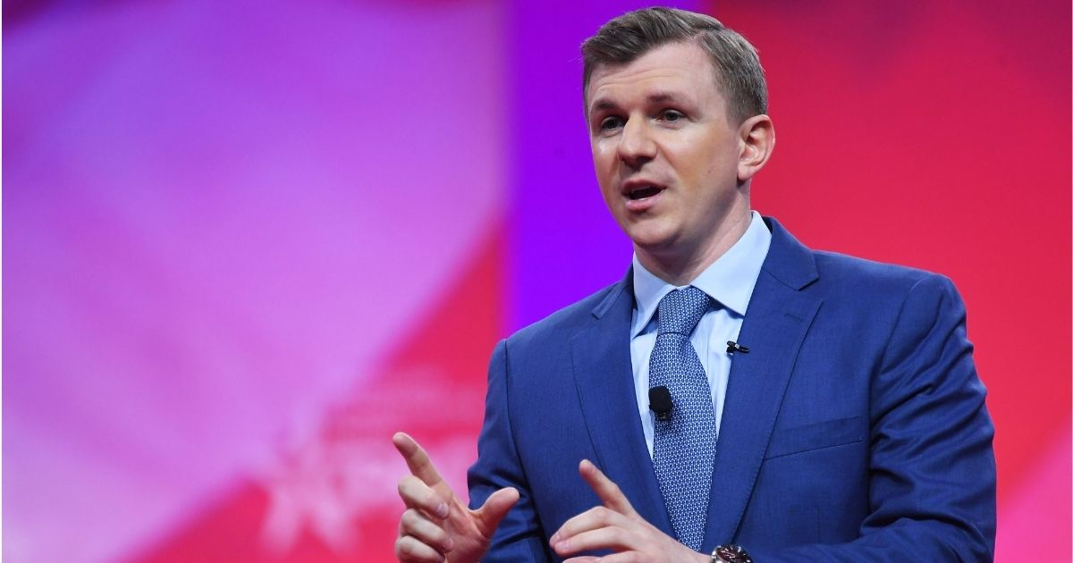 Conservative political figure James O'Keefe speaks during the annual Conservative Political Action Conference (CPAC) in National Harbor, Maryland, on March 1, 2019.