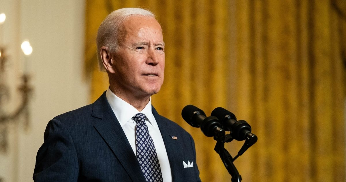 President Joe Biden delivers remarks in the East Room of the White House in Washington, D.C., on Friday.