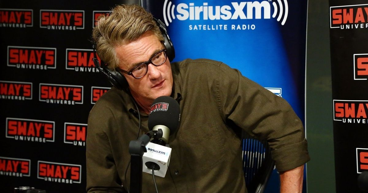 MSNBC host Joe Scarborough visits 'Sway in the Morning' with Sway Calloway on Eminem's Shade 45 at SiriusXM Studios on Aug. 2, 2017, in New York City.