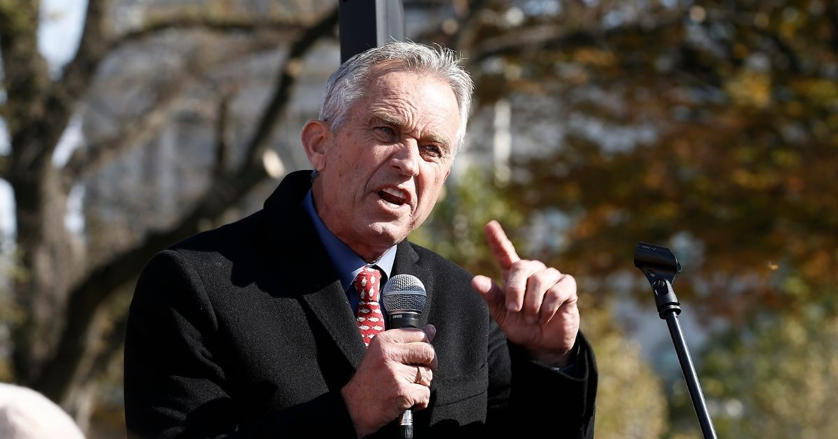 Robert Kennedy Jr. speaks at a climate rally