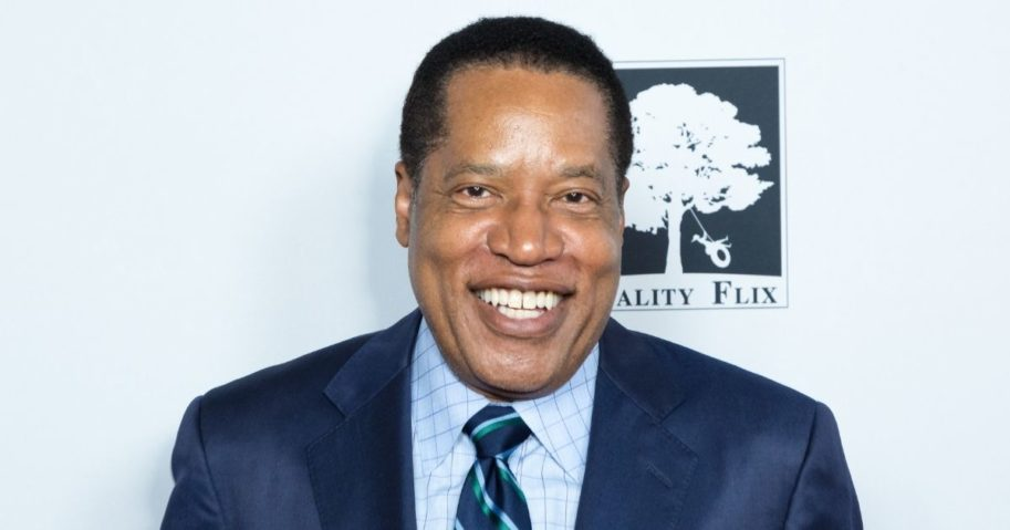 """Radio talk show host Larry Elder attends the """"Death of a Nation"""" premiere at Regal Cinemas L.A. Live on July 31, 2018, in Los Angeles."""