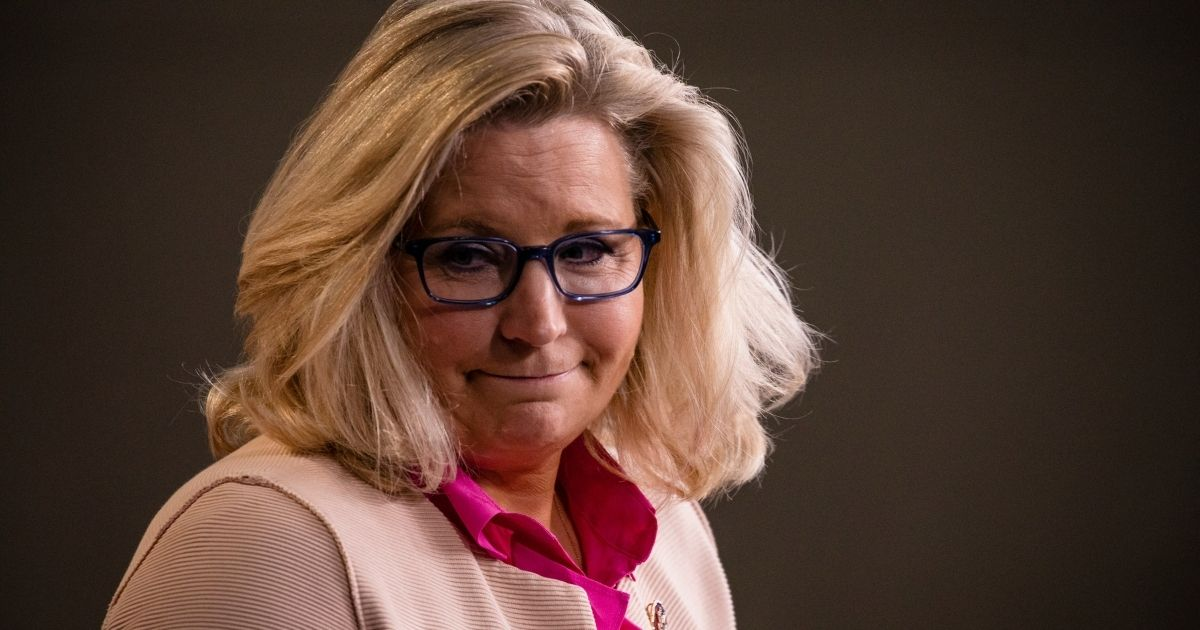Republican Rep. Liz Cheney of Wyoming leaves the podium after speaking during a news conference with other Republican members of the House of Representatives at the Capitol on July 21, 2020, in Washington, D.C.