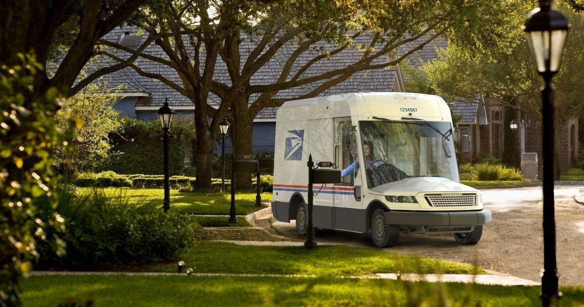 New U.S. Postal Service truck.
