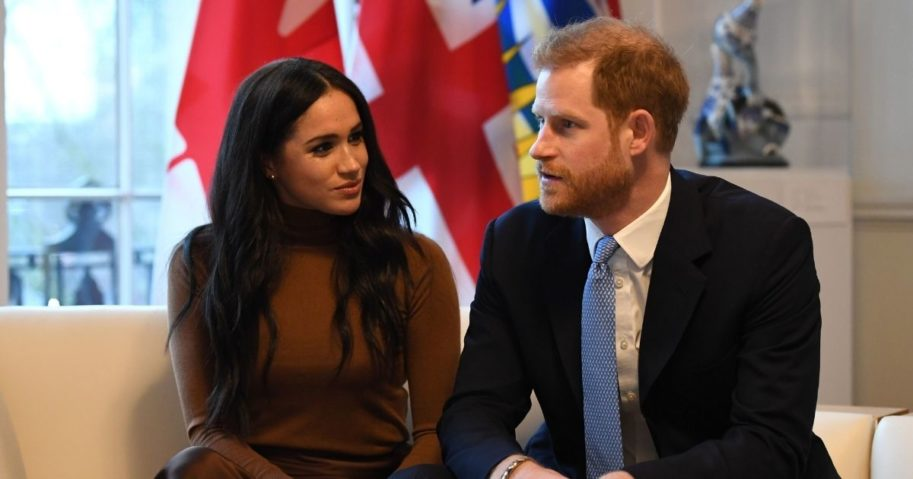 Meghan Markle and Prince Harry are pictured together. After a year, the two have confirmed their decision to step down from their royal positions.