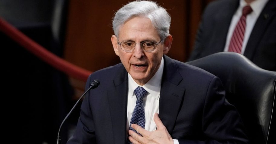 Judge Merrick Garland, President Joe Biden's pick to be attorney general, answers questions from Republican Sen. John Kennedy of Louisiana as he appears before the Senate Judiciary Committee for his confirmation hearing Monday on Capitol Hill in Washington.