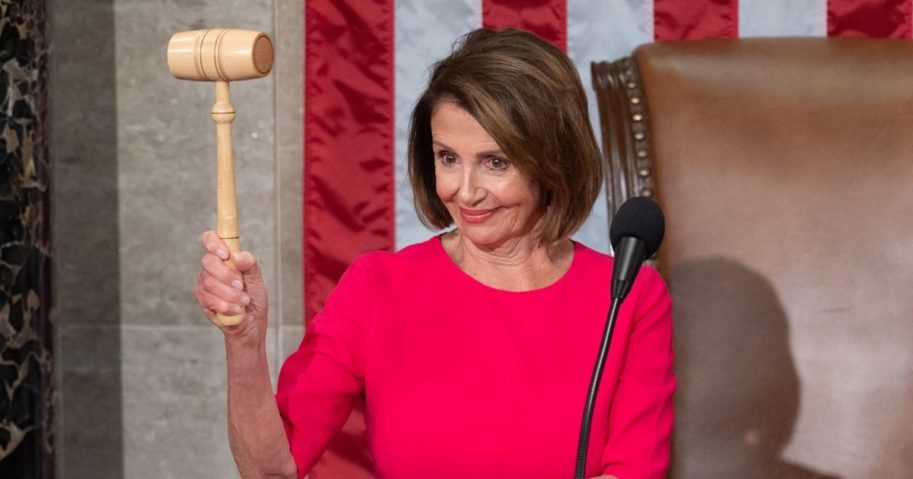 Speaker of the House Nancy Pelosi holds her gavel after being elected during the beginning of the 116th U.S. Congress at the Capitol in Washington, D.C., on Jan. 3, 2019.