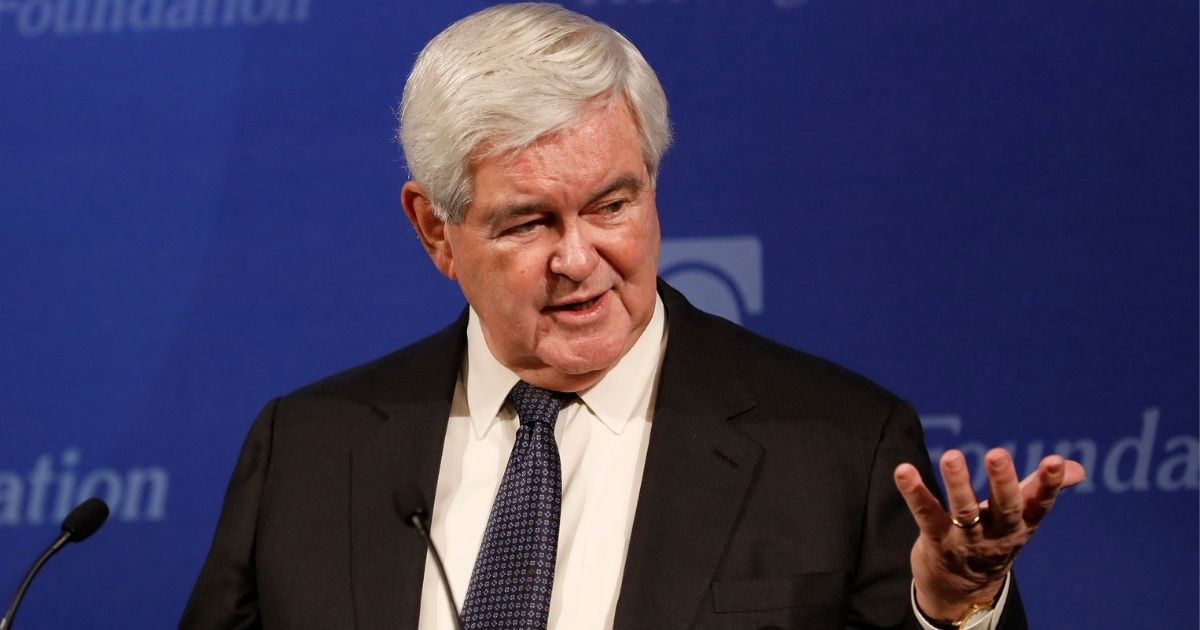 """Former Speaker of the House Newt Gingrich holds a discussion on """"Understanding Trump and Trumpism"""" at the Heritage Foundation in Washington on Jan. 17, 2017."""