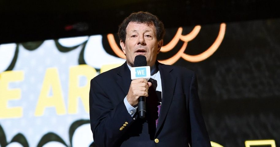 New York Times columnist Nicholas Kristof speaks onstage during WE Day UN 2019 at Barclays Center on Sept. 25, 2019, in New York City.