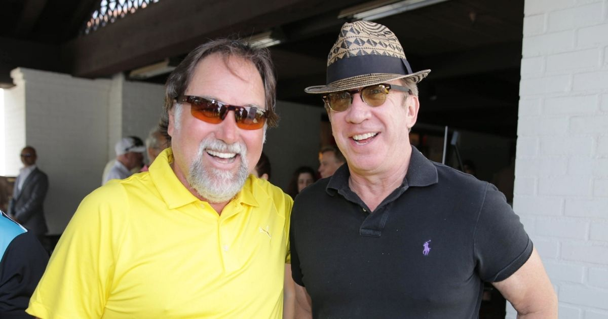 Actors Richard Karn and Tim Allen are pictured at the Screen Actors Guild Foundation 4th Annual Golf Classic Actors Fore Actors on June 10, 2013, in Los Angeles.