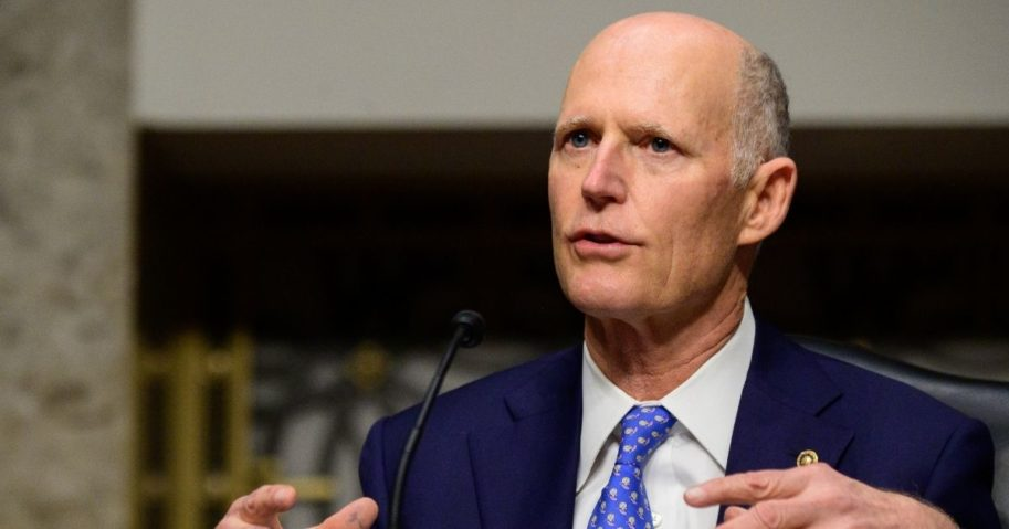 Florida Republican Sen. Rick Scott speaks on Tuesday in Washington, D.C.