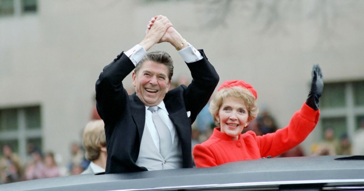President Ronald Reagan and his wife, Nancy, are pictured above.