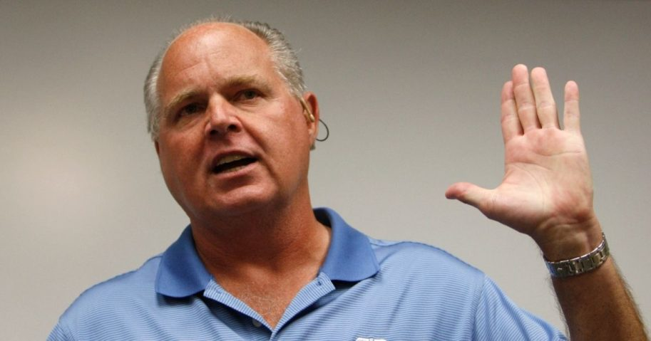 Conservative talk show host Rush Limbaugh speaks during a news conference at The Queen's Medical Center in Honolulu on Jan. 1, 2010.