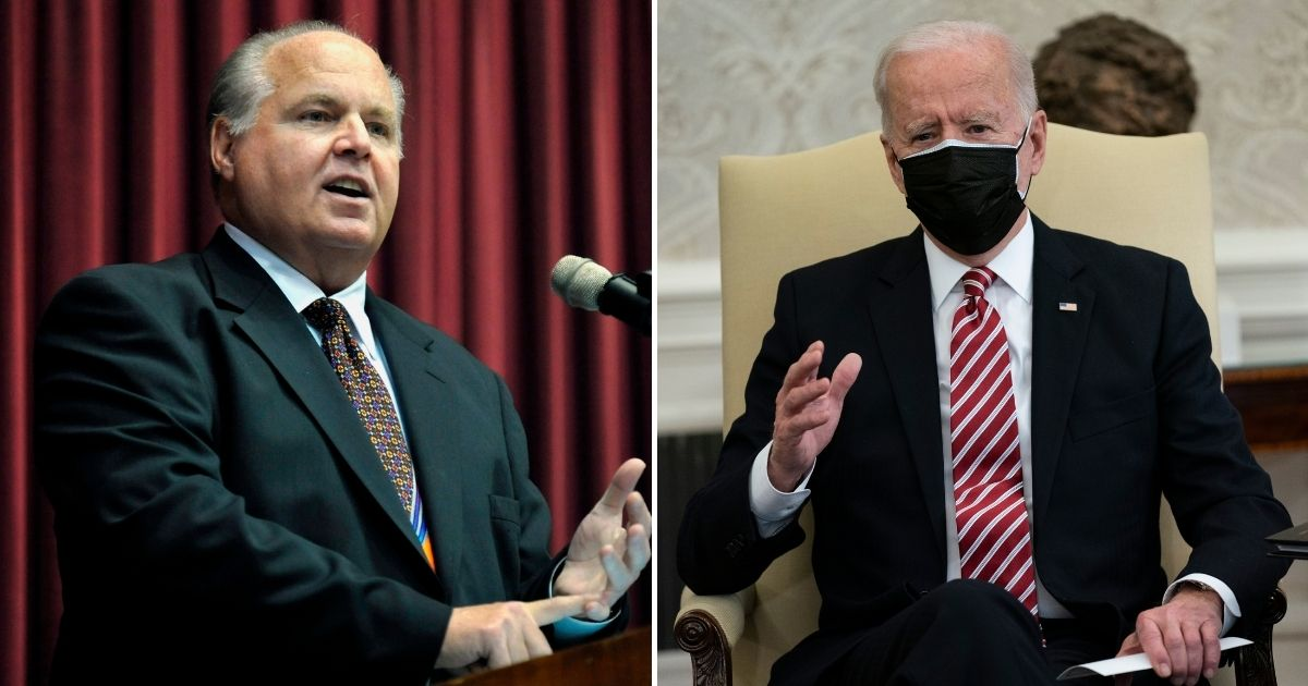 Cancer-Stricken Rush Limbaugh's Final Post Called Out President Biden for Taking a Snow Day