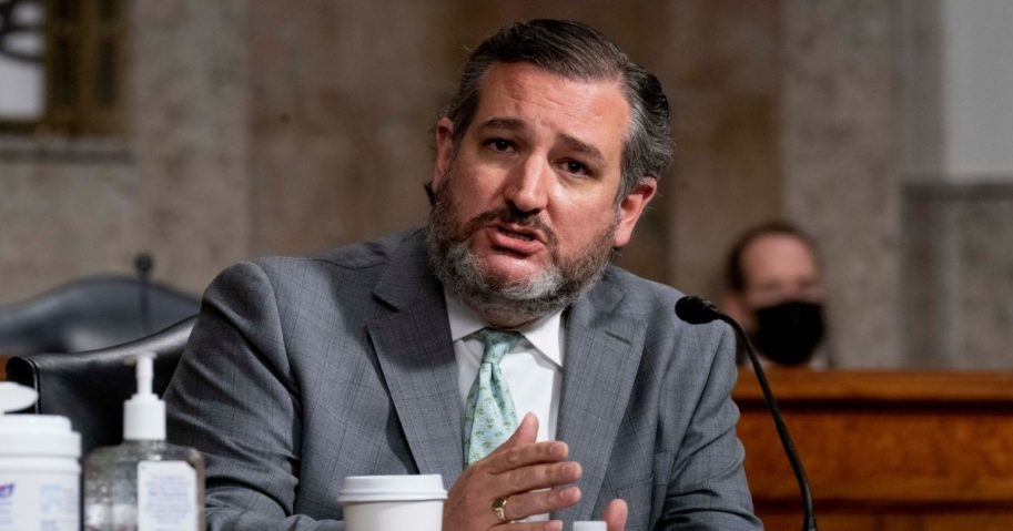 Sen. Ted Cruz speaks during a joint hearing