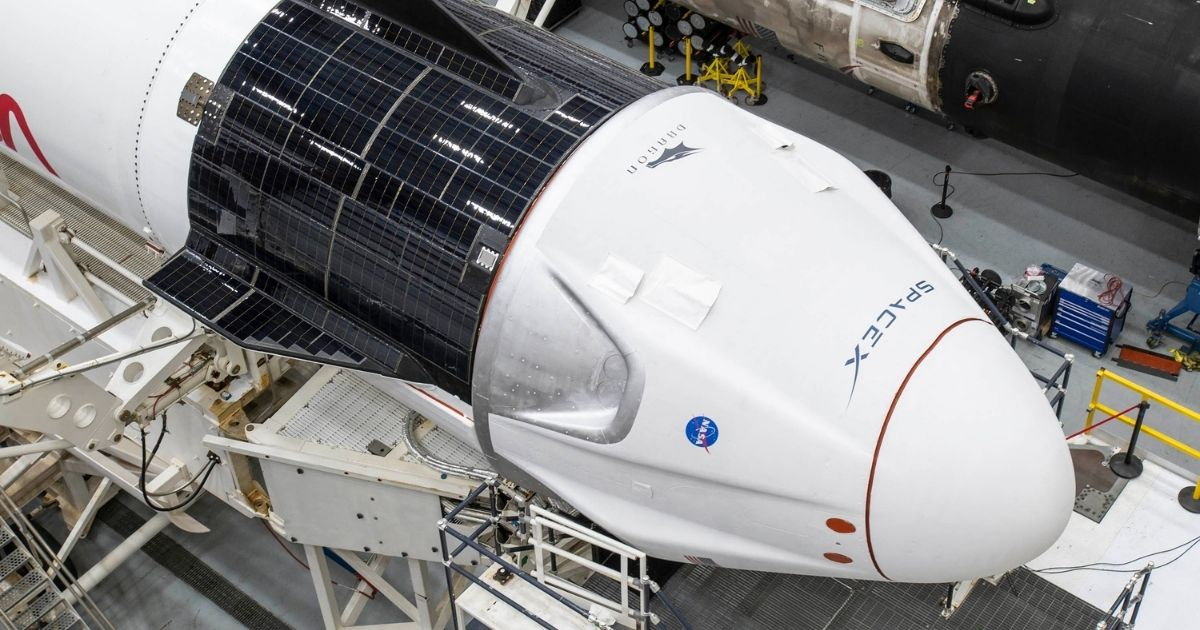 The SpaceX Dragon capsule for the Crew-1 Mission is seen Nov. 9, 2020.
