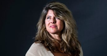 American liberal progressive feminist author, journalist and former political adviser to Al Gore and Bill Clinton, Naomi Wolf, attends a photocall during Edinburgh International Book Festival 2019 on Aug. 12, 2019, in Edinburgh, Scotland.