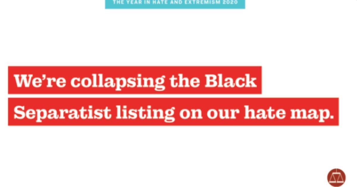 On top of this graphic on its Twitter page on Feb. 12, 2021, the Southern Poverty Law Center tweeted that 'Black dissent is not Black violence. Equivocating the two enables over-policing of Black activism.'