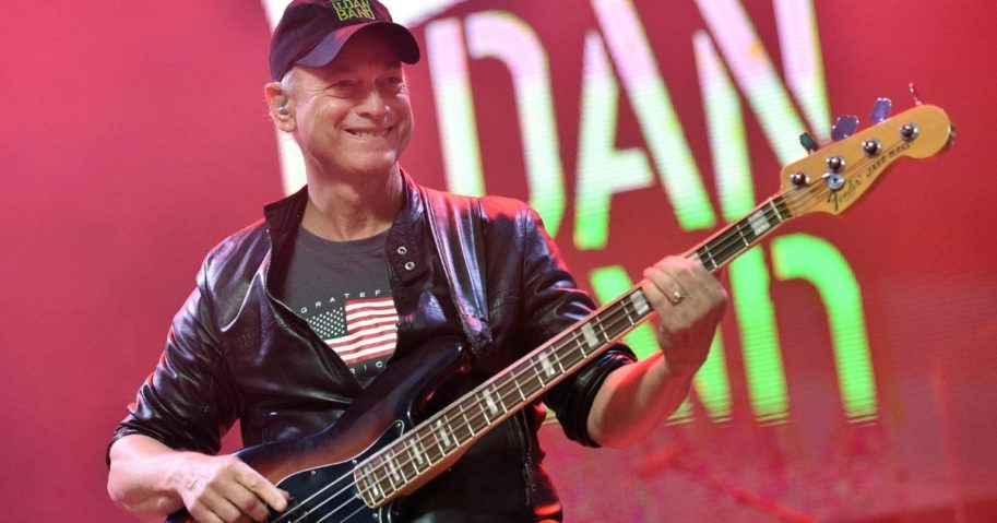 Actor/musician Gary Sinise of the Lt. Dan Band -- a name garnered from Sinise's role in the 1994 movie 'Forrest Gump' -- performs as part of a Salute to the Troops event in Las Vegas on Nov. 9, 2019.
