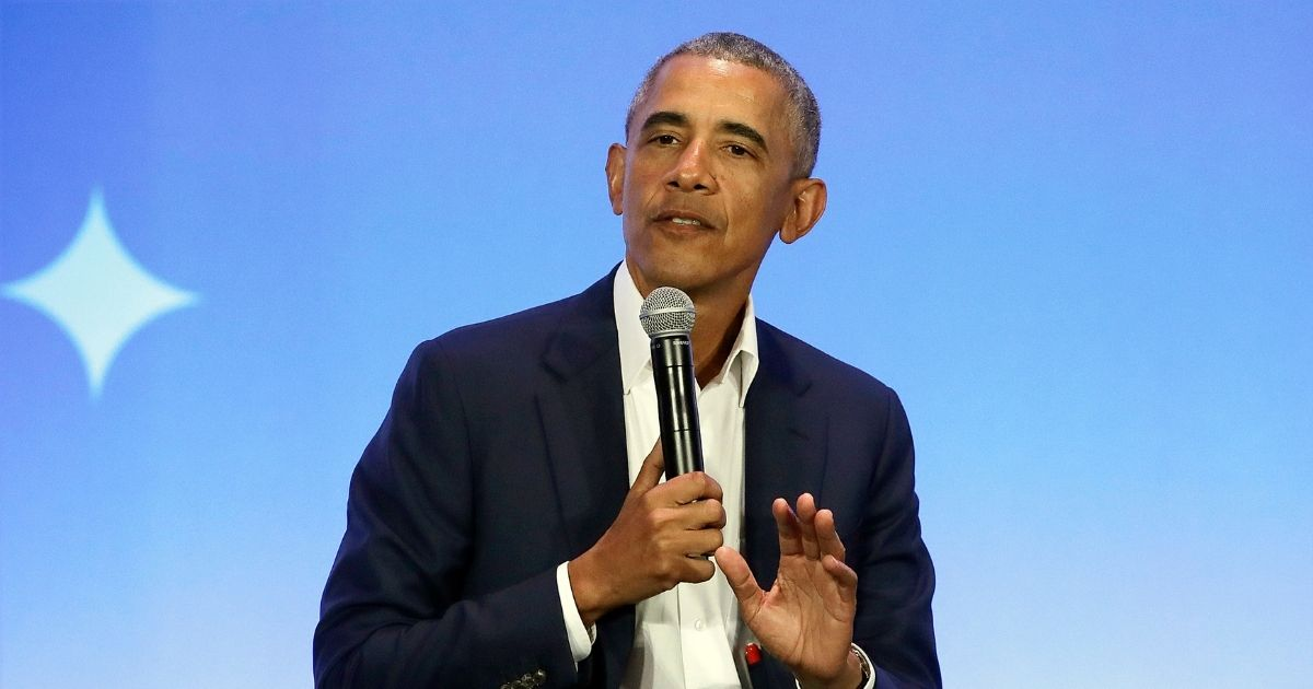 FormerPresident Barack Obama, pictured in a 2019 file photo from a book promotion event in Oakland.