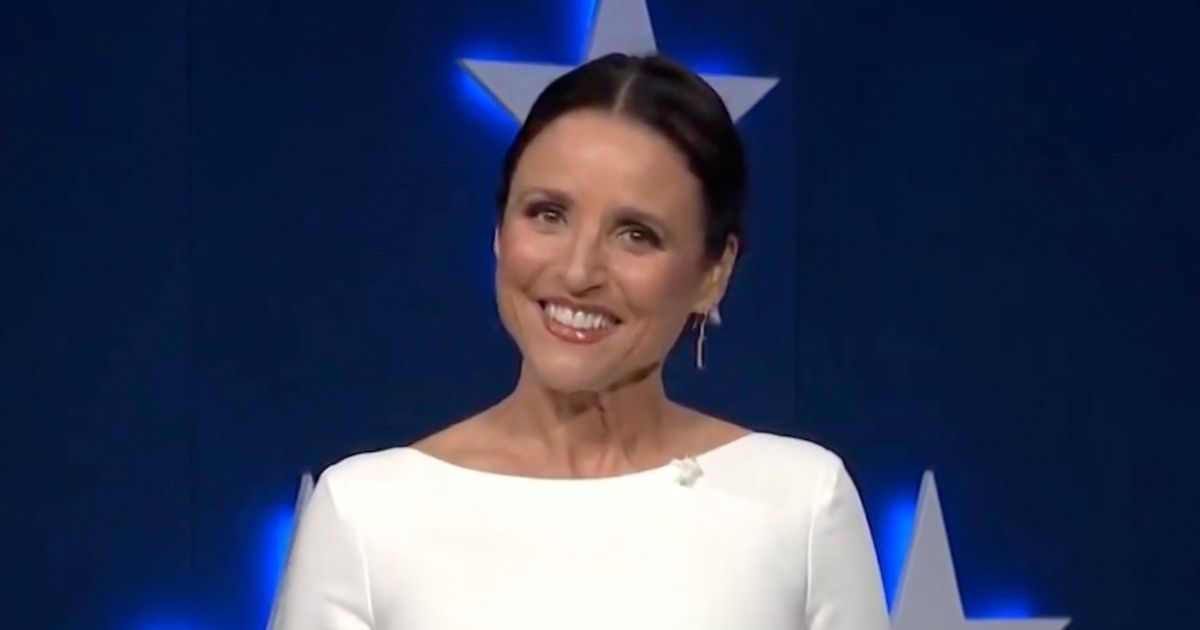 Actress and comedian Julia Louis-Dreyfus, pictured in a screenshot from the Democratic National Convention Committee's livestream of the 2020 Democratic National Convention in August.