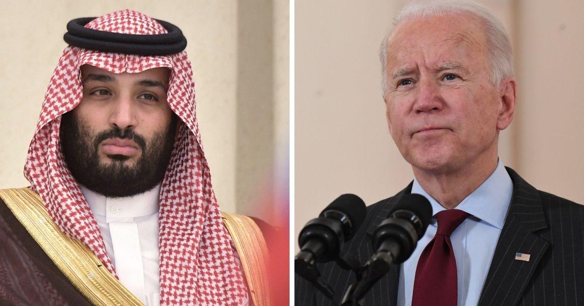 Saudi Arabian Crown Prince Mohammed bin Salman, left; and President Joe Biden, right.