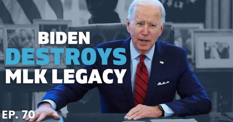 """Joe Biden is destroying the 1964 Civil Rights Act, which states all people """"shall be entitled to be free, at any establishment or place, from discrimination or segregation of any kind on the ground of race, color, religion, or national origin."""""""