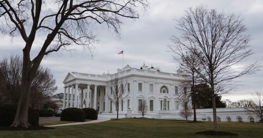 The White House in Washington is seen Jan. 19.