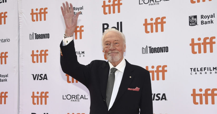 Christopher Plummer attends the premiere for 'Knives Out' at the Toronto International Film Festival on Sept. 7, 2019, in Toronto.