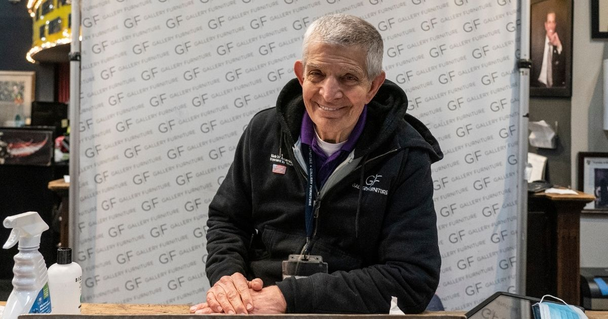 Jim Mclngvale, the owner of Gallery Furniture, which opened its doors as a shelter after winter weather caused electricity blackouts, poses for a photo on Feb. 18, 2021, in Houston, Texas.