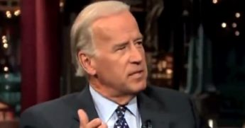 "Now-President Joe Biden makes an appearanced in 2007 on the ""Late Show with David Letterman."""