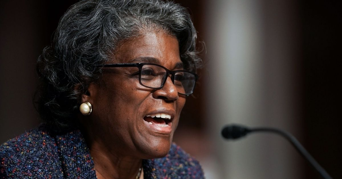Linda Thomas-Greenfield, President Joe Biden's nominee for US ambassador to the United Nations, testifies during her confirmation hearing before the Senate Foreign Relations Committee on Capitol Hill, on Jan. 27, 2021, in Washington, D.C.