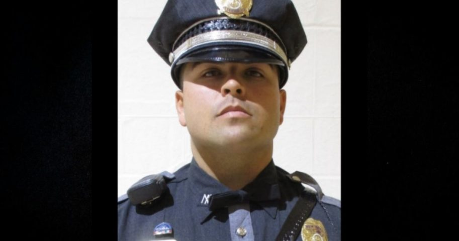 A New Mexico State Police officer was fatally shot while making a traffic stop on a highway on Feb. 4, 2020.