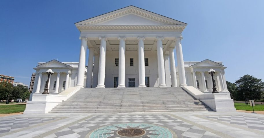 The Virginia State Capitol is seen in the above stock image.