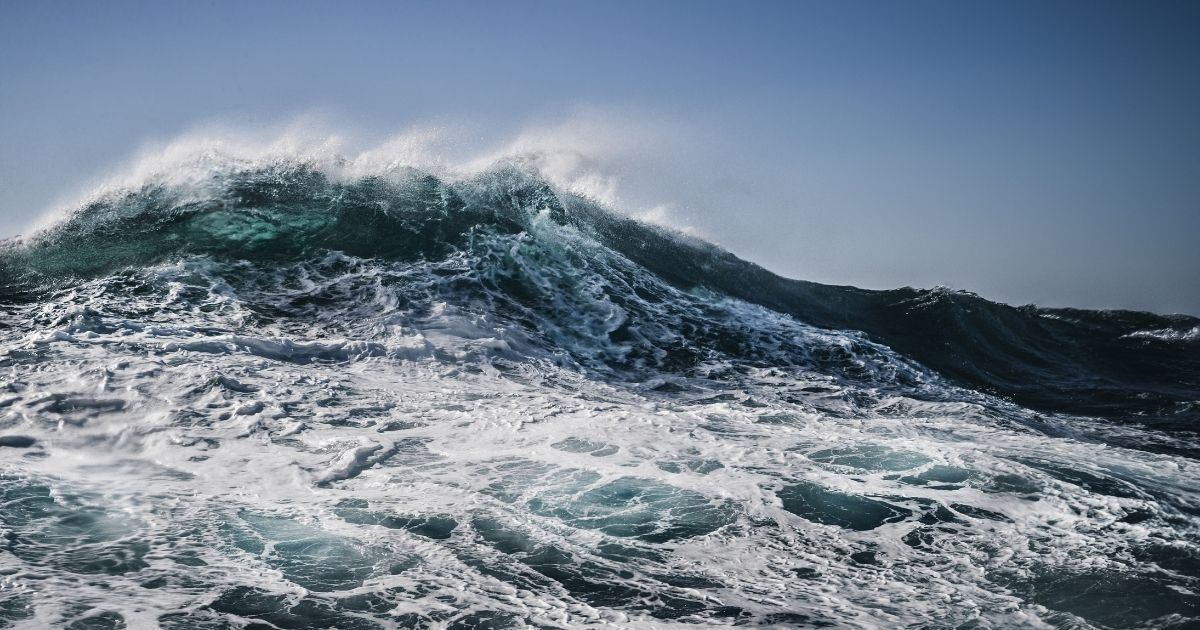 Waves crash on the Atlantic Ocean in the stock image above.