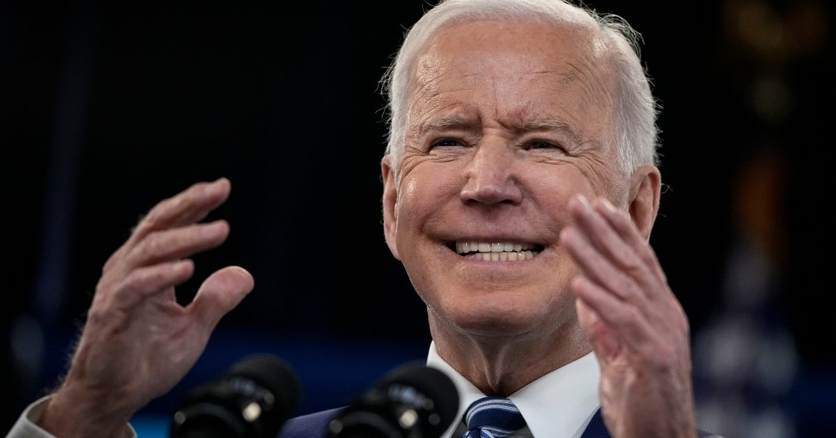 President Joe Biden delivers remarks on the COVID-19 response and the state of vaccinations at the White House complex on Monday in Washington, D.C.