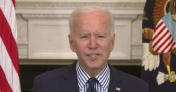 President Joe Biden speaks at the White House about the $1.9 trillion COVID-19 relief bill, which passed in the Senate.