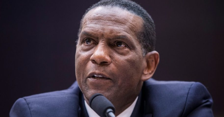 Former NFL player Burgess Owens testifies during a hearing on slavery reparations held by the House Judiciary subcommittee on the Constitution, civil rights and civil liberties on Capitol Hill in Washington on June 19, 2019.