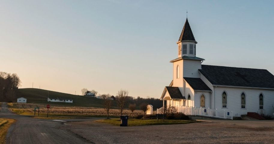 Hopewell United Methodist Church in Glenford, Ohio, is pictured above.