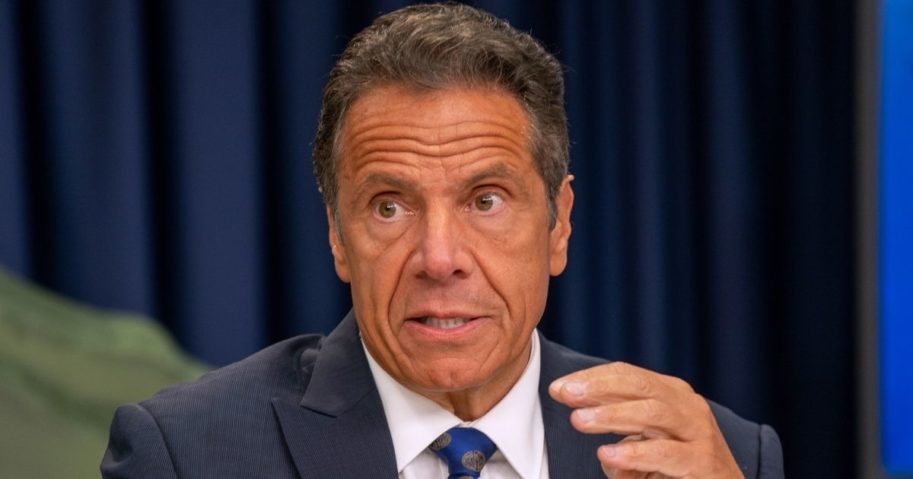 New York Gov. Andrew Cuomo speaks during a COVID-19 briefing in New Yok City on July 6, 2020.