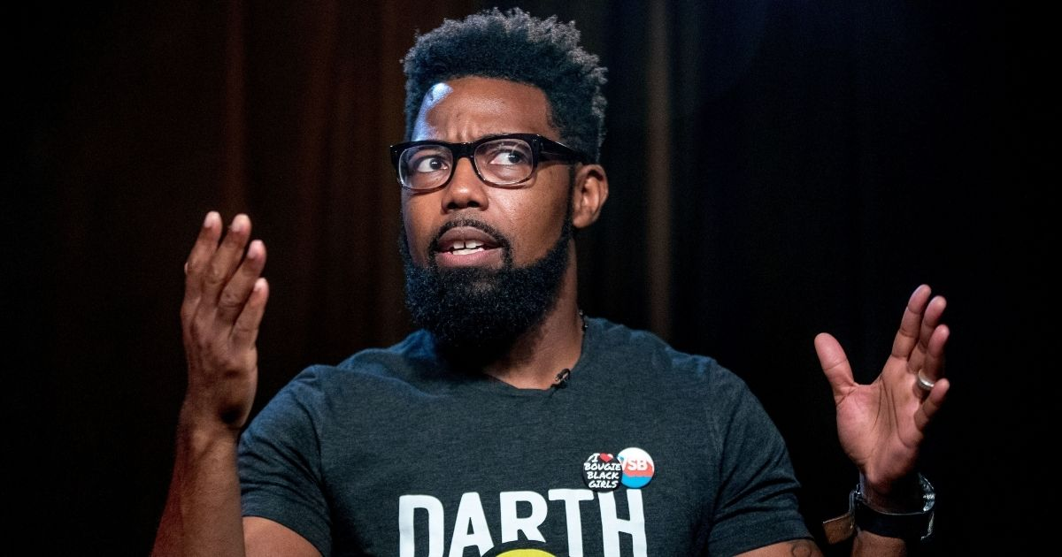 Writer Damon Young speaks during an interview at the Associated Press Bureau in Washington, D.C., on Sept. 23, 2016.