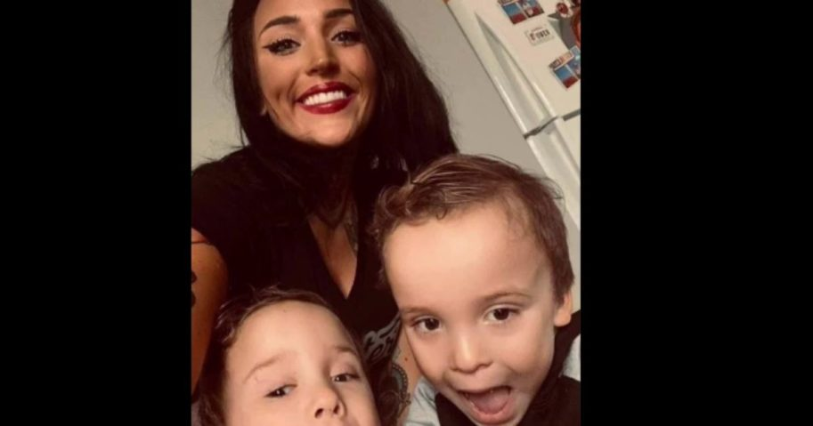 Hillarie Galazka and her boys. Galazka died recently after her car was rear-ended.